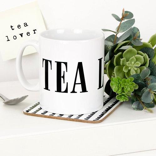 Monochrome TEA LOVER Mug x 3