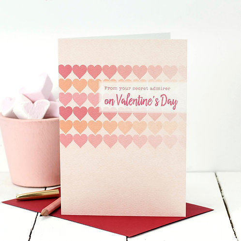 From Your Secret Admirer | Sweetheart Valentine's Day Card