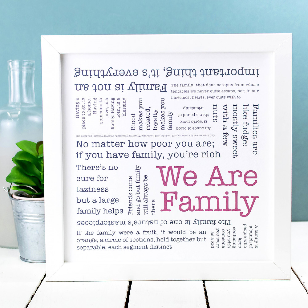 Noughties Word Cloud Poster Print