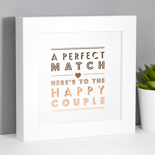 Perfect Match Rose Gold Framed Print x 3
