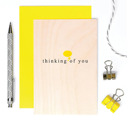 Thinking of You Wooden Keepsake Card