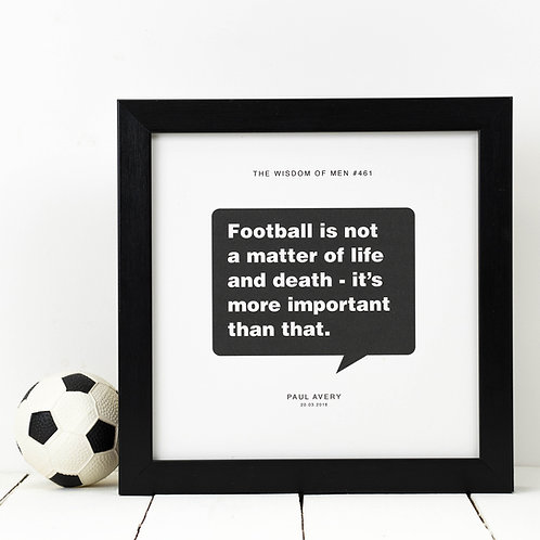 Personalised Sport Gift for Him | Football Print