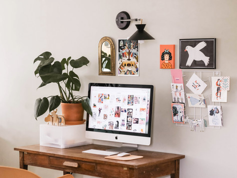 4 Quick & Easy Home Office Updates To Do Today | Work From Home Desk Inspiration | UK Lockdown