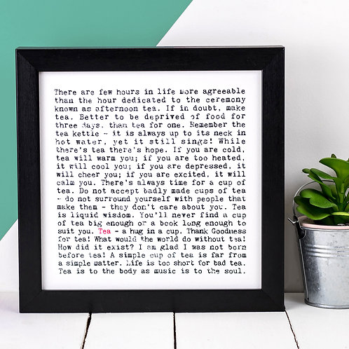 Tea Wise Words Quotes Print