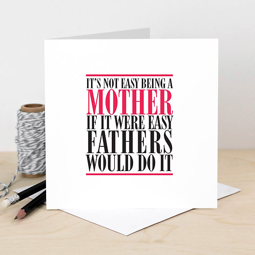 Mother One Red Word Card