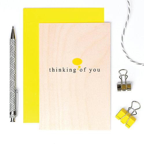 Thinking of You Stylish Wooden Card x 6