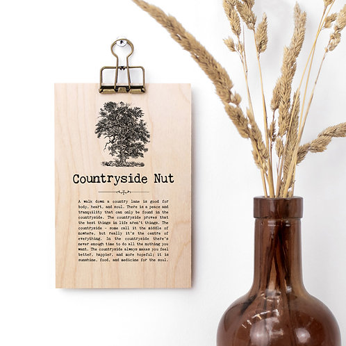 Countryside Quotes Wooden Plaque with Hanger x 3