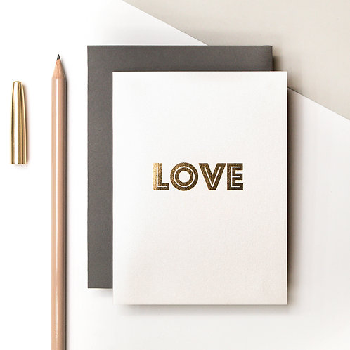 LOVE Mini Metallic Card | Precious Metals