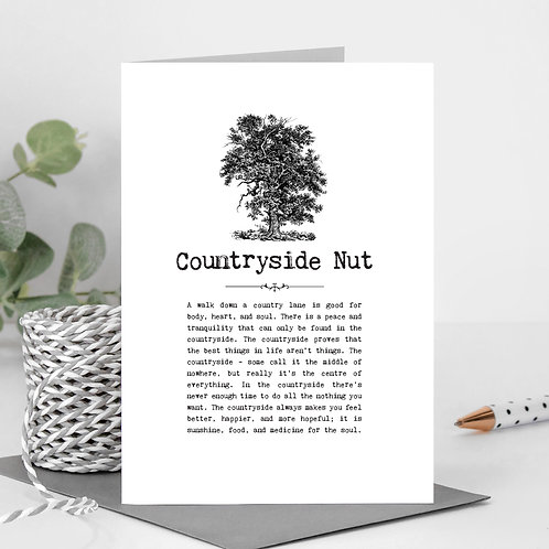 Countryside Greeting Card with Quotes