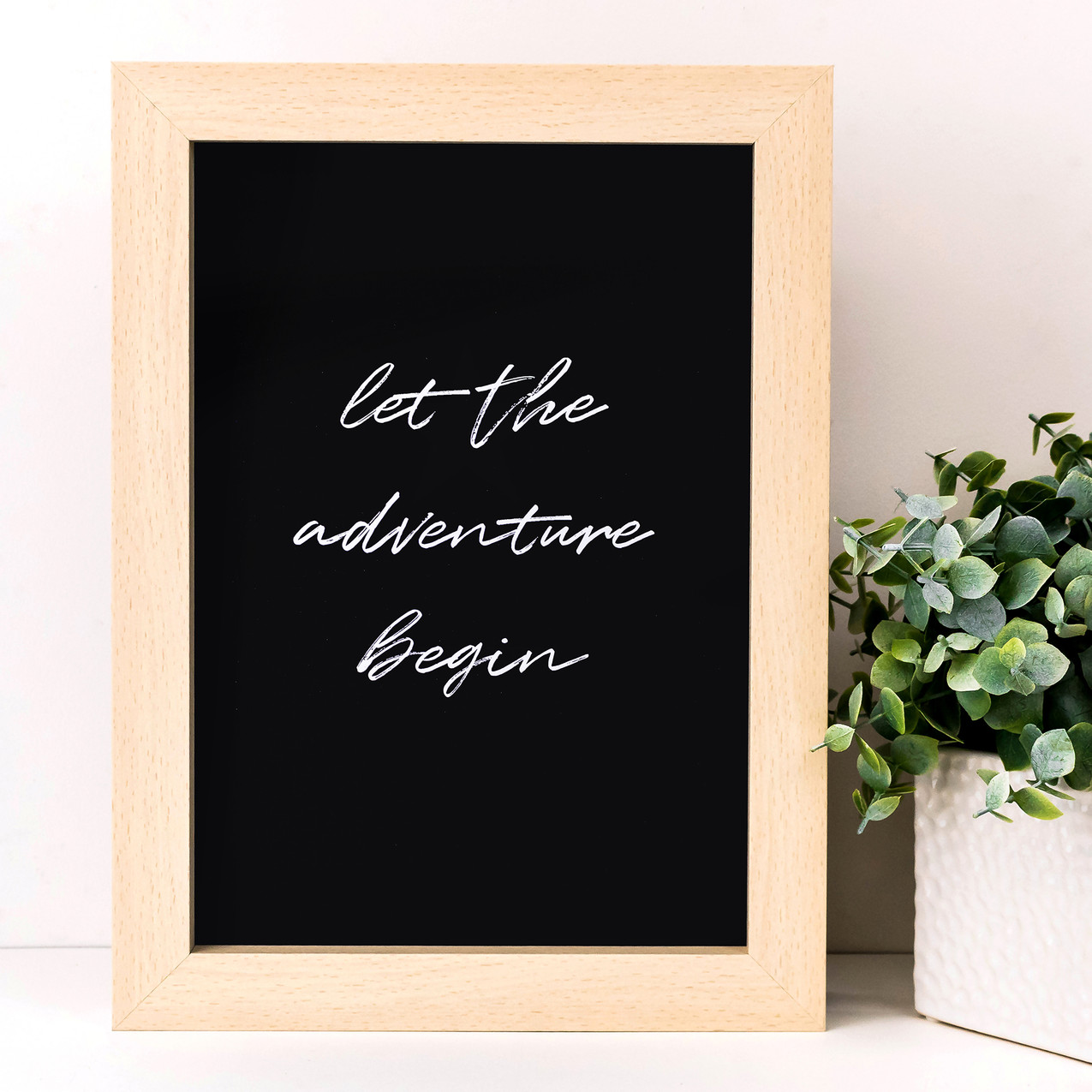 SMP032 - A4 Black - Let the Adventure Be