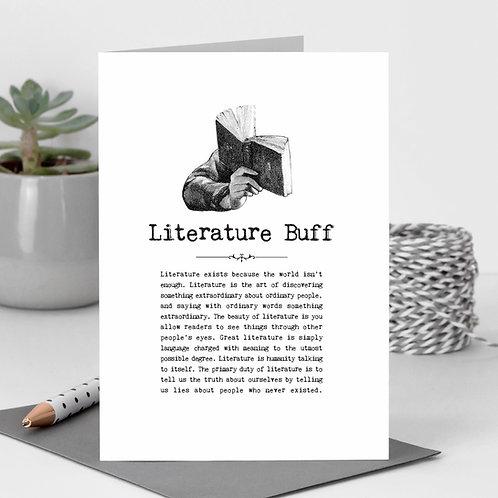 Literature Buff Vintage Words Greeting Card x6