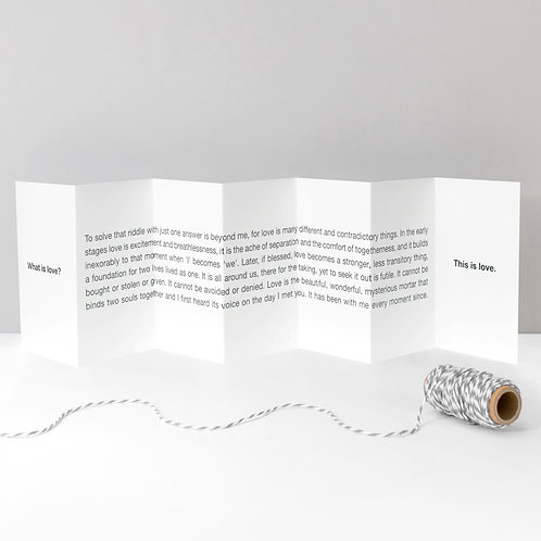 What is Love? Poem Verse Concertina Card