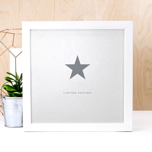 Limited Edition | Silver Typographic Quote Print