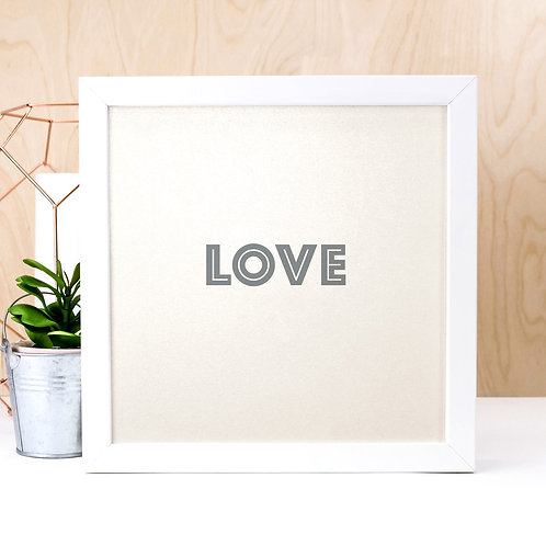 L-O-V-E Pearl Print x 3