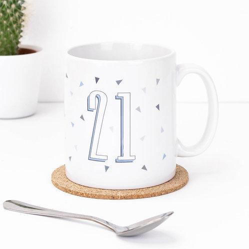 Age/Number Funky Confetti Geo Mug x 3