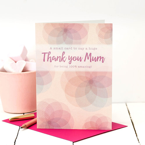 Thank You Mum | Modern Floral Mother's Day Card