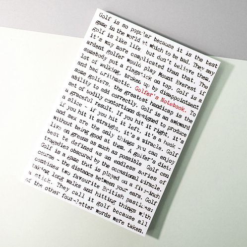 Wise Words A6 Pocket Notebook for Golfers