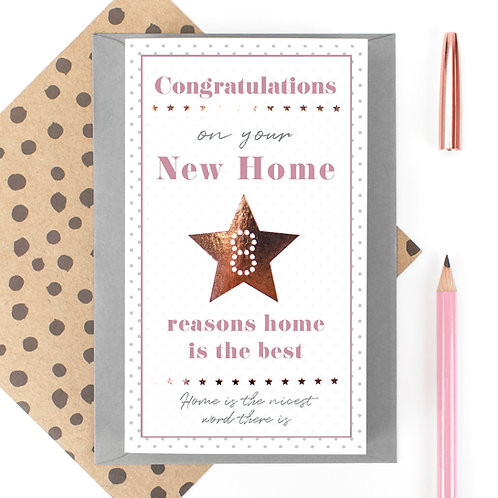 Home is the Best 8 Reasons New Home Quotes Card