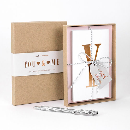 You + Me | Luxury Boxed Concertina Card x 3