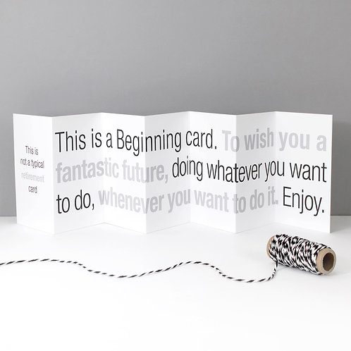 Not a Typical Retirement Concertina Card x 6