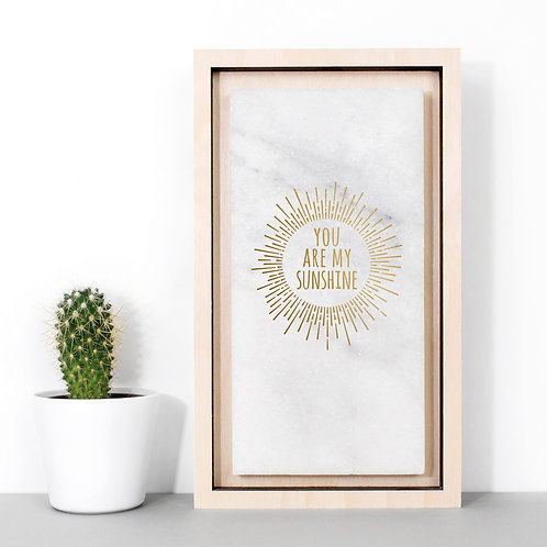 My Sunshine Gold Marble Stone Plaque