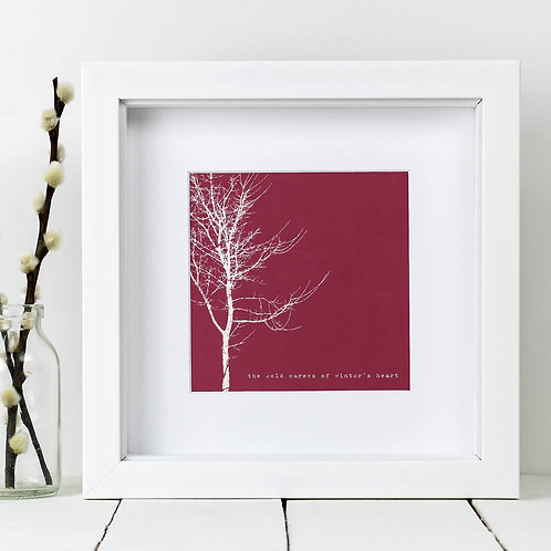 Red Tree Square Print x 10 (Mega Discount Bundle £1.75 EACH)