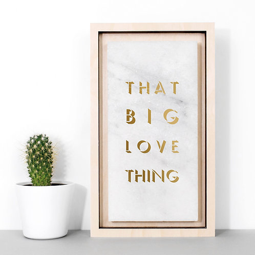 Big Love Thing Marble Stone Plaque