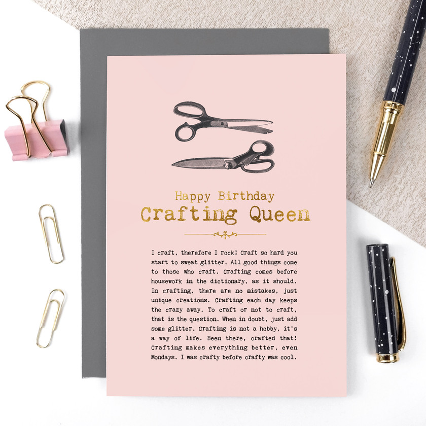 Crafting Queen Birthday Card by Coulson Macleod