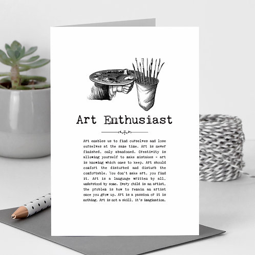 Artist Greeting Card with Quotes