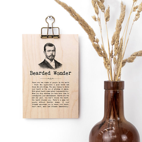 Beard Quotes Mini Wooden Sign with Hanger