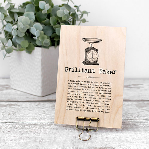Baking Quotes Wooden Plaque with Hanger x 3