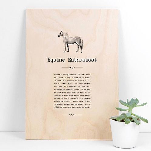 Horses Vintage A4 Wooden Quotes Plaque x 3