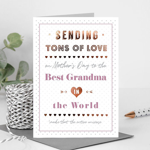 Best Grandma/Nan/Granny Personalised Mother's Day Card