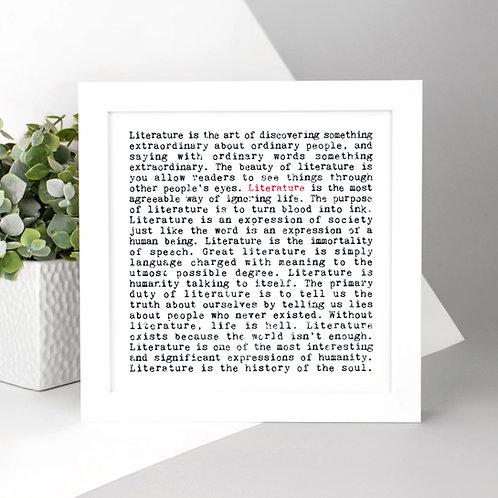 Literature Wise Words Print x 3