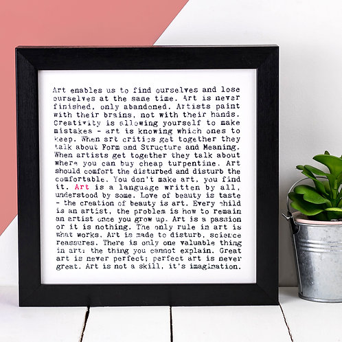 Art Wise Words Quotes Print