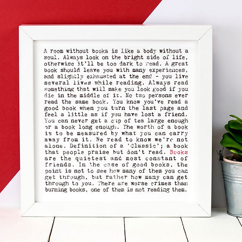 Books Wise Words Quotes Print