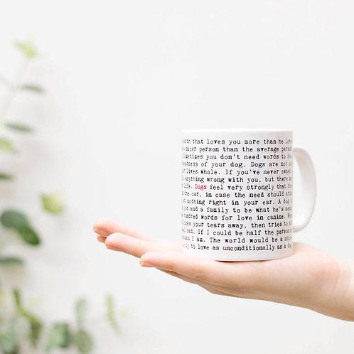 Wise Words Dog Breeds Mug