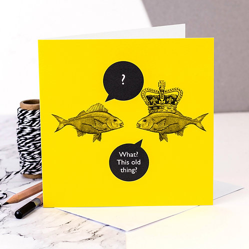 Crown Funny Fish Card x 6