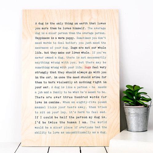 Wise Words ANIMAL Plywood Prints (10 Designs)