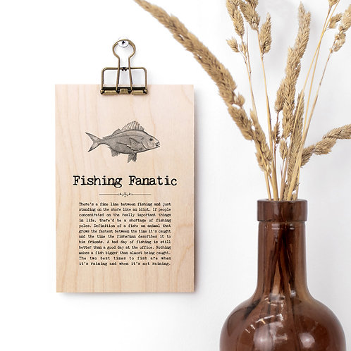 Fishing Quotes Mini Wooden Sign with Hanger