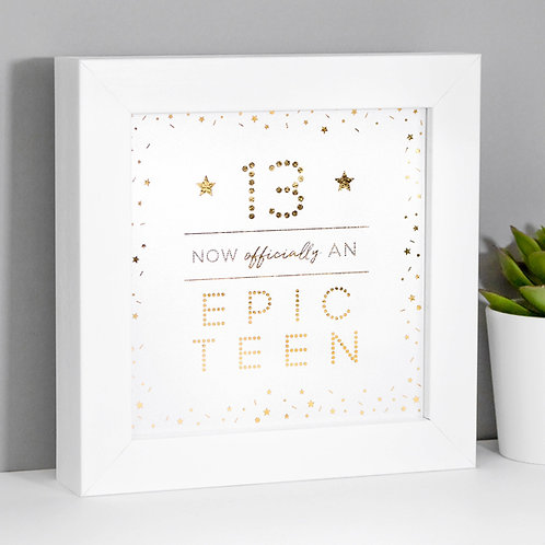 13th Birthday Epic Teen Mini Metallic Print