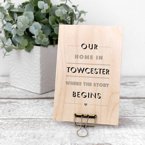 Our Home Personalised Wooden Plaque with Hanger x 3