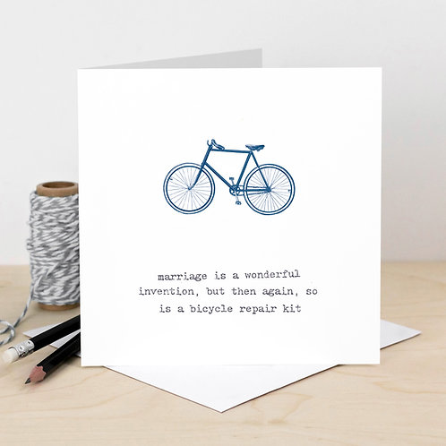 Cycling Marriage Quote Card