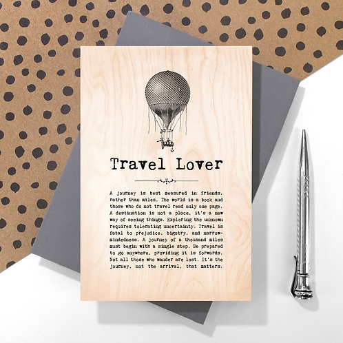 Travel Lover Mini Wooden Plaque Card x 6