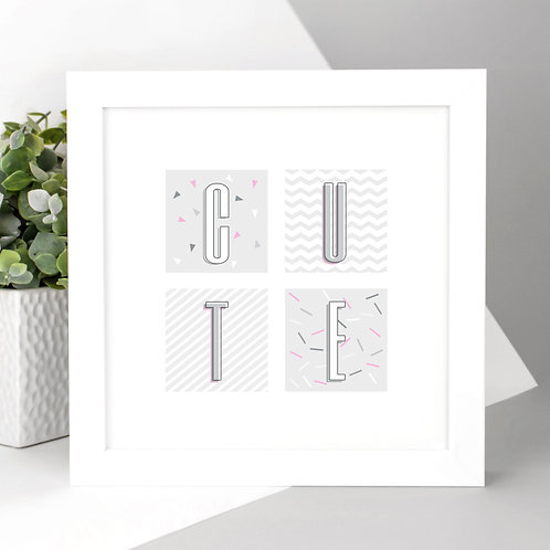 New Baby CUTE Geometric Square Print