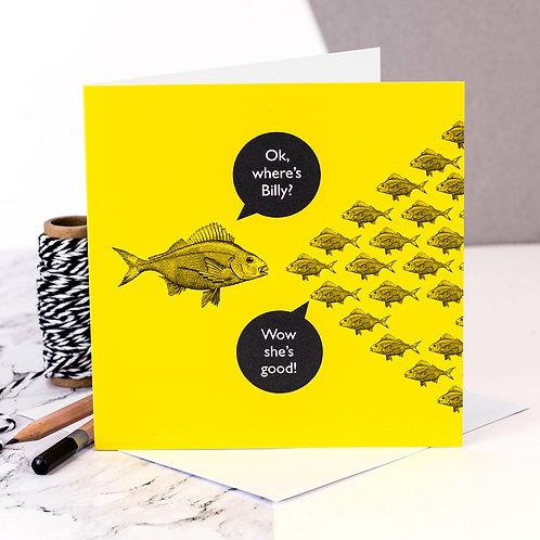 Teacher/Mum Funny Fish Card x 6