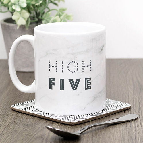 High Five Marble Effect Mug