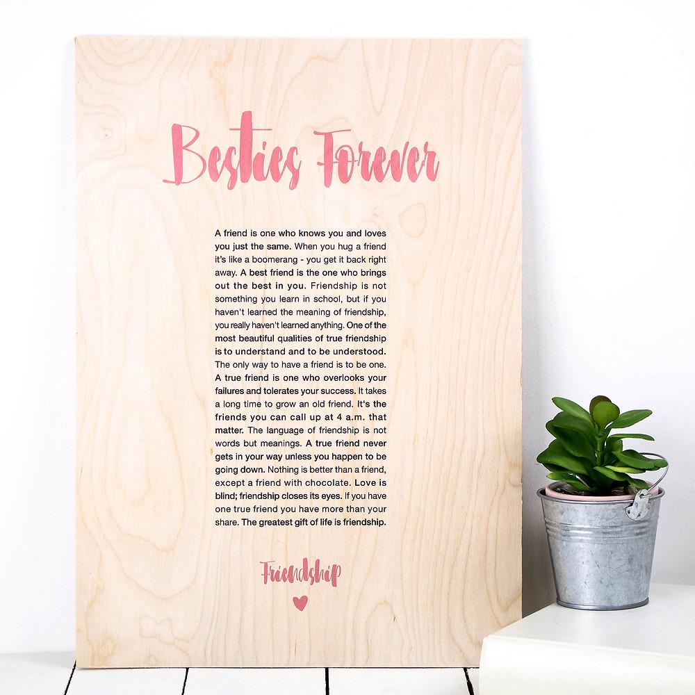 Besties Forever - Plywood Friendship Print