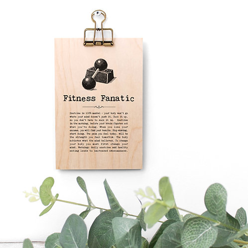 Fitness Quotes Wooden Plaque with Hanger x 3