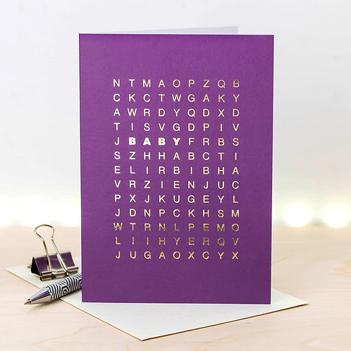 Word Search Baby Invites Pack x 3